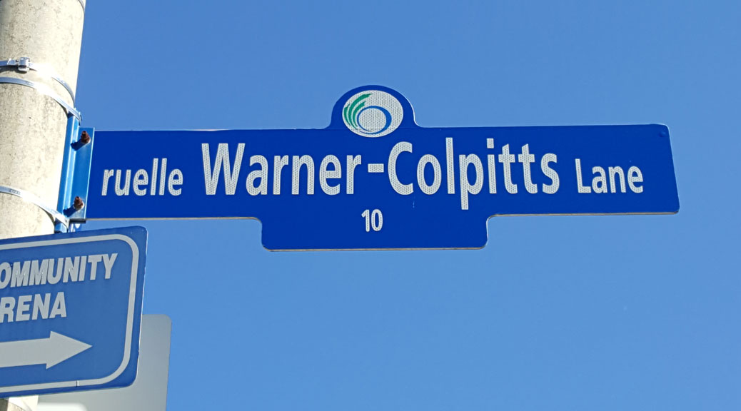 Warner-Colpitts Lane is named after Sterling Warner and Ian Colpitts, two Stittsville volunteers who were instrumental in building the Johnny Leroux Arena. We should recognize more of our community leaders - past and present - through commemorative street names.