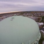 VIDEO: Flighting the water tower