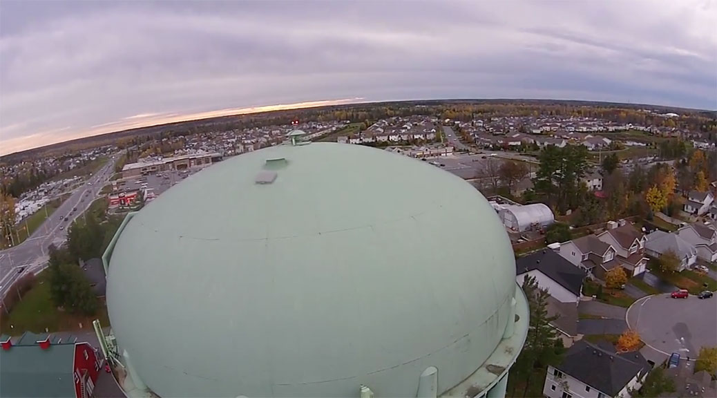 Water tower aerial / Video by Twitch