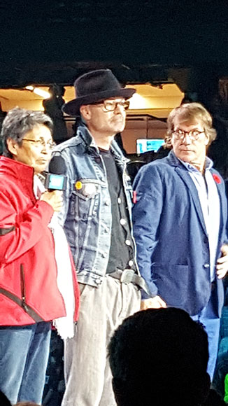 Gord Downie participated in a prayer alongside Charlie Wenjack's sister Pearl Achneepineskum, and his brother Mike Downie.