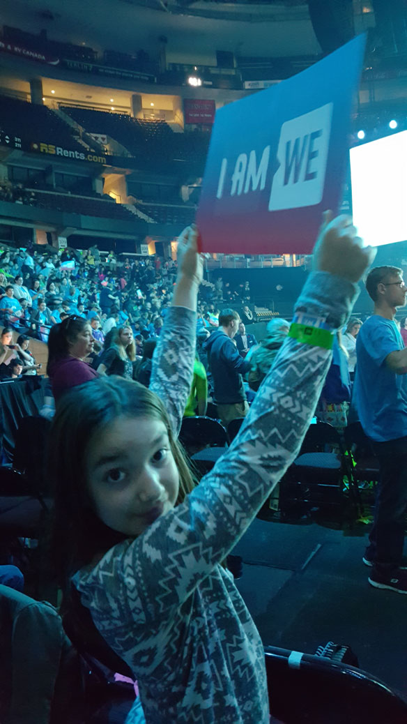 Sophie at WE Day
