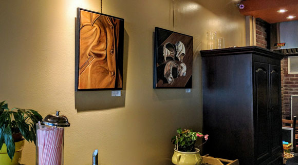 Wendy Russell's art at Gaia Java