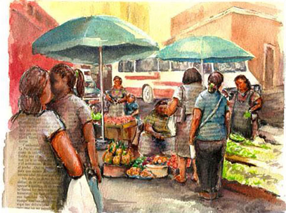 Watercolour by Rainer Wenzl