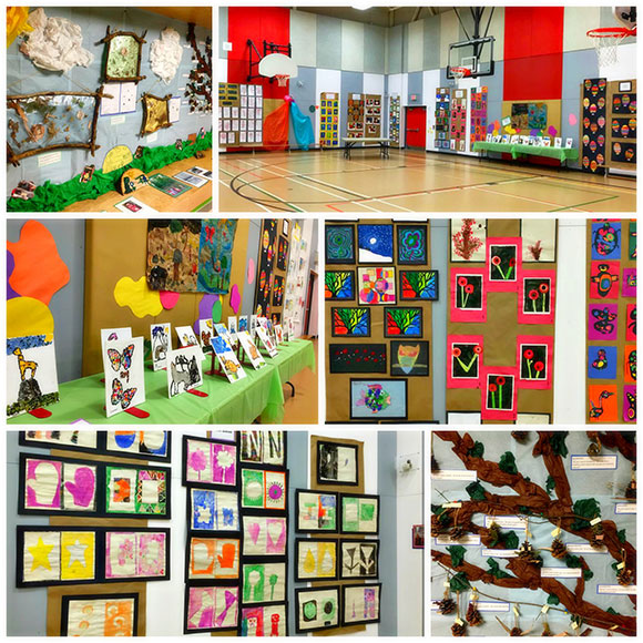 ART IS EVERYWHERE student art show at Westwind Public School on April 30, 2015.