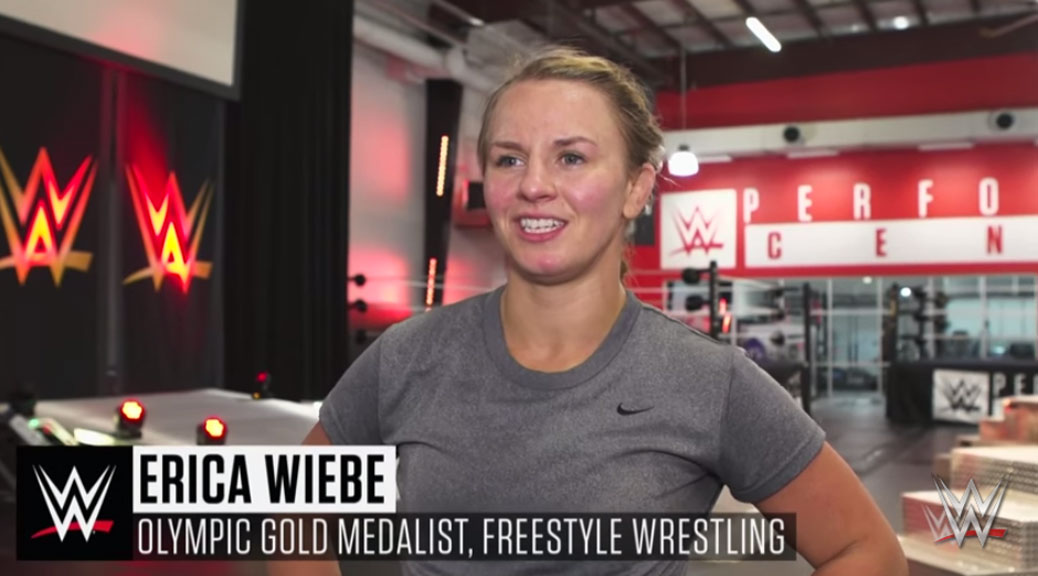 Erica Wiebe feature produced by WWE wrestling