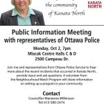 Kanata councillor hosts meeting about recent gun incidents, October 2