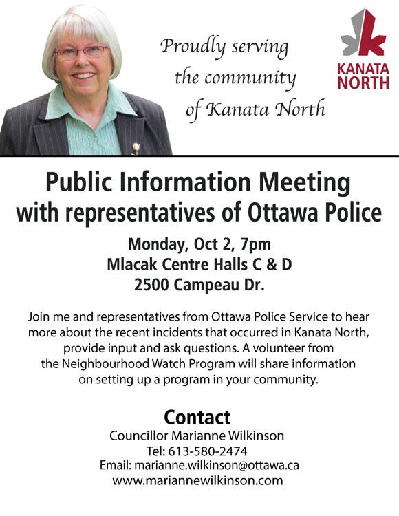 Public information meeting October 2