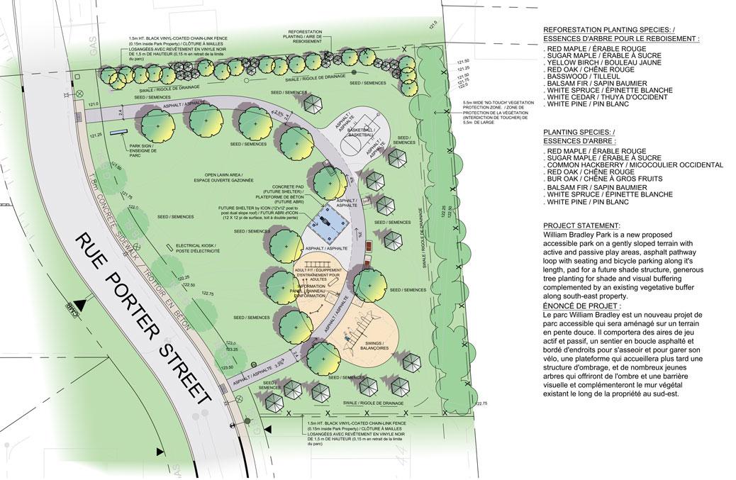William Bradley Park concept plan A.
