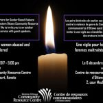 DEC 6: WOCRC hosts candlelight vigil for murdered and abused women