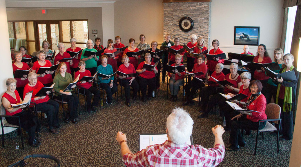 The West Ottawa Ladies Chorus at Bridlewood Trails retirement residence
