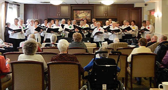 The West Ottawa Ladies Chorus at Robertson House in Bells Corners.
