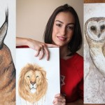 Student combines a passion for animals and art