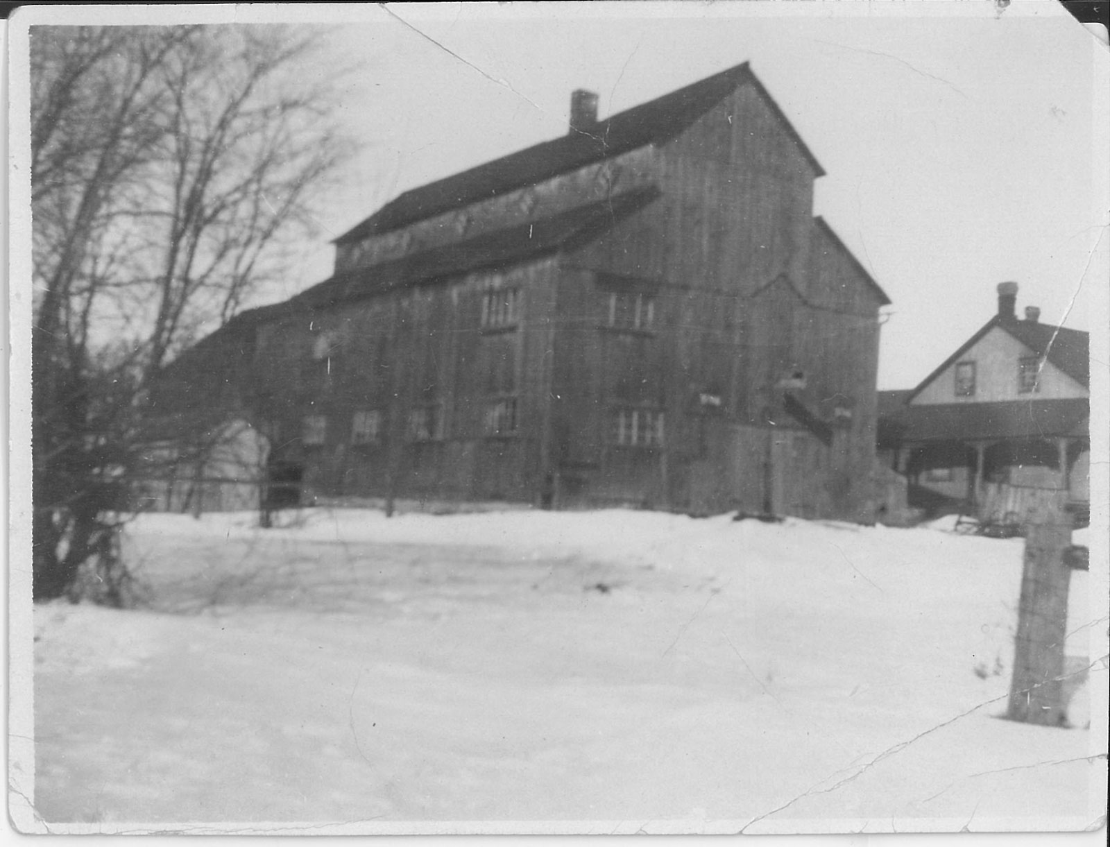 Old barn. Photo from the collection of Roger Young.