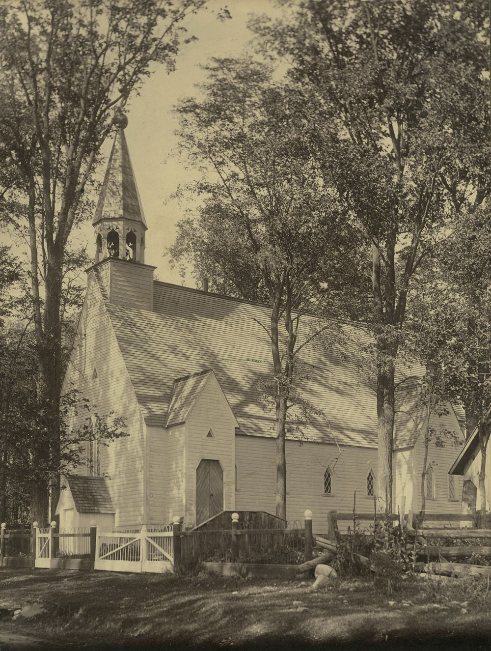 The original St. Paul's Church. Photo from the collection of Roger Young.