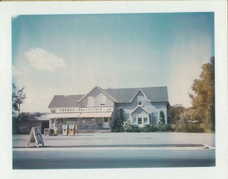 The old Groceteria / general store. Young's father purchased the store in 1956. Photo from the collection of Roger Young.
