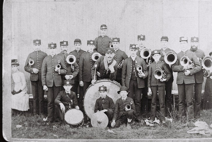 The Hazeldean Band, circa 1887. Photo from the Goulbourn Township Historical Society archives.