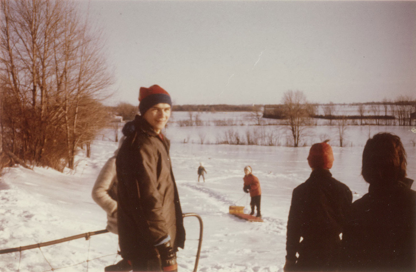 Hazeldean was (and still is) a hilly place and toboganning was a favourite winter activity. Photo from the collection of Roger Young.