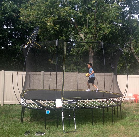 Zida Academy's Bluetooth trampoline. Photo by Devyn Barrie.