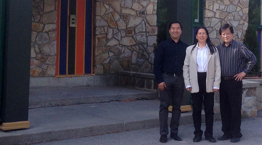 Zida's Sheng Lan with his mother Hua (Jennifer) Lan and father Julian Ni. Photo by Devyn Barrie.